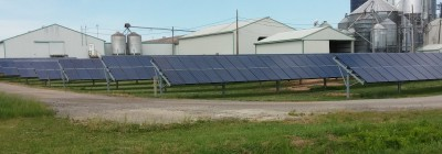 Solar array at Langeland Farms. (Courtesy of Charles Gould)