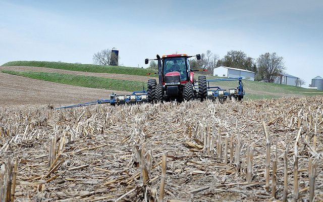 Conservation tillage practices like no-till allow farmers to plant cash crop seeds with little disturbance to the soil, which protects the habitat for billions of the soil's microorganisms. USDA NRCS photo via Flickr