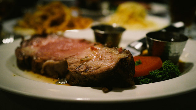 A popular holiday feast centerpiece is Prime Rib (standing rib roast). (rpavich via Flickr)