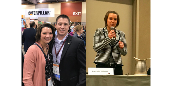 Seth and Lyndsay Earl and Amanda Sollman represented the state with what's become the customarily high level of excellence on the national stage. (Courtesy of Michigan Farm Bureau)