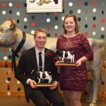 Logan Voigts of Lafayette County and Kristen Broege of Rock County claimed the most prestigious honor, being named Outstanding Holstein Boy and Girl. (Courtesy of Wisconsin Holstein Association)