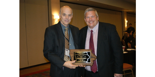 Charlie Good, the owner and operator of Good & Quick in Nevada, IA was presented the 2017 Secretary's Ethanol Marketing Award by Secretary of Agriculture Bill Northey. (Courtesy of Iowa Department of Agriculture)