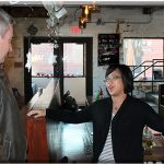 Toa Green, co-owner of Crank & Boom Ice Cream, tells Agriculture Commissioner Ryan Quarles the story of how the business came about at her Lexington shop in December. (Kentucky Department of Agriculture photo)