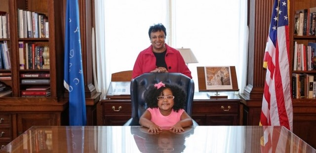Tot who read 1,000 books named Librarian for a Day