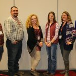 Katie Hothem of Sumner, Kyle Lechtenberg of Spencer, Chris Niemann of Dwight, and Lindsey Stern of Anselmo advanced to the final round of the Nebraska Farm Bureau Federation (NFBF) Young Farmers and Ranchers (YF&R) Discussion Meet to be held at the next NFBF Annual Convention, Dec. 3-5, 2017. Eleanor Aufdenkamp of North Platte was named first alternate and Robert Stuart of Lexington is the second alternate. (Courtesy of Nebraska Farm Bureau Federation)