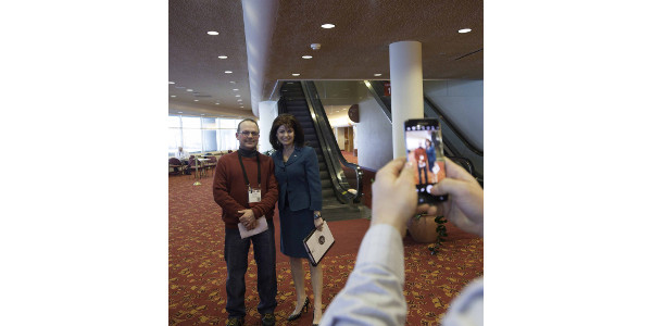 Rebecca Kleefisch takes time for a photo. (Courtesy of Patrick Flood Photography llc)