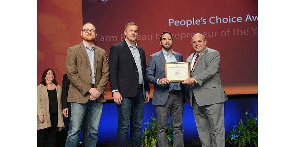 Congratulations to the Levrack team of Ryan and Austin Stauffer and Peter Miller of Seward and Windcall Manufacturing, led by Martin Bremmer of Venago, for participating in the American Farm Bureau Federation's (AFBF) Rural Entrepreneurship Challenge. (Courtesy of Nebraska Farm Bureau)