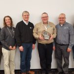 AgSource co-workers congratulate Chuck Bolte on being named the 2016 Wisconsin CCA of the Year. (l to r) Tim Boerner, Chris Clark, Steve Peterson, Chuck Bolte, Pat Baier and Haily Henderson.