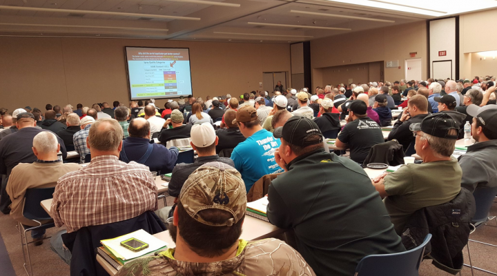 Producers hear the latest research-based information to benefit their operations at Nebraska Extension's crop production clinic in Norfolk. (Amit Jhala - Nebraska Extension)