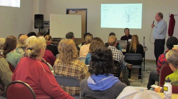 Verlin Rockey presents on garlic at the 4th Annual Food and Farm Forum.