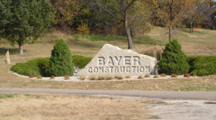 For the fifth time, Bayer Construction Co. Inc. located in Manhattan was awarded the 2016 Governor's Mined Land Reclamation Award presented at the 2017 Kansas Aggregate Producers Association annual convention in Overland Park, Kan., on January 13. (globeglobe.blogspot.com)
