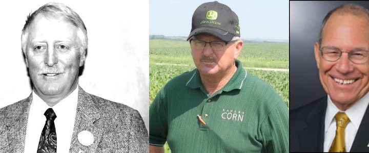 Glen O. Klippenstein, Ken McCauley, and Dr. Thomas L. Payne. (Courtesy of Agricultural Business Council of Kansas City)