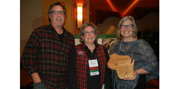 Greg and Wendy Galbraith of Marathon County were honored with the 2017 Jerold Berg Grazing Advocate award at the annual GrassWorks Grazing Conference in Wisconsin Dells. (Courtesy of GrassWorks Grazing Conference)