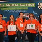 McLean County 4-H Members pictured (L to R) included Micah Mohr (Ardent Tillers), Tess Birsa (Ardent Tillers), Lauren Mohr (Ardent Tillers), Sky Schumaker (County Capri), and Emerson Tarr (Hudson Ag). (Courtesy of Illinois 4-H Team)