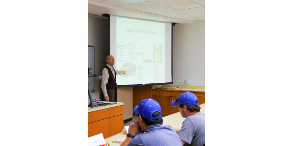 Grain Storage Specialist Carl Reed leads the IGP-KSU Grain Elevator Managers training. (Courtesy of IGP)