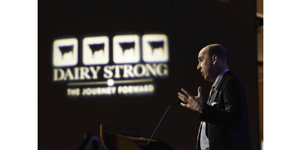 Farmers need to be ready for emerging technologies that will transform their industry in the years to come, futurist Jack Uldrich told hundreds of farmers and others in the dairy community attending the annual Dairy Strong conference. (Courtesy of Patrick Flood Photography llc)