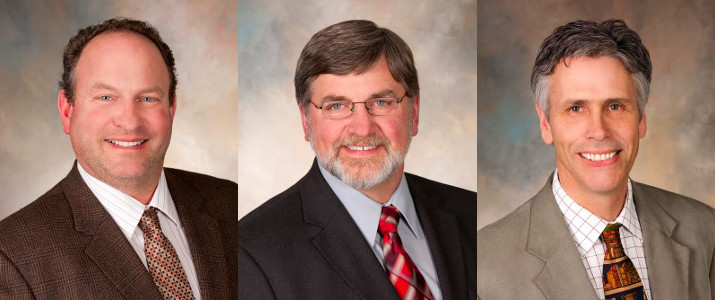 Joe Bragger of Independence was selected to serve a two-year term on the water committee; Dave Daniels of Union Grove was selected to serve a two-year term on the farm policy committee; and Dick Gorder of Mineral Point was selected to serve a two-year term on the trade advisory committee in 2016 and selected chair of the committee in 2017. (Courtesy of Wisconsin Farm Bureau)