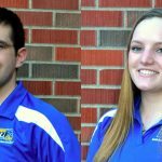 SDSU students Cole Hoyer of West Salem, Wis., and Audrey Souza of Milbank, S.D. were co-chairs for the conference. They oversaw several subcommittees comprised of the 80 members of the SDSU Dairy Club.(Courtesy SDSU College of Agriculture & Biological Sciences)
