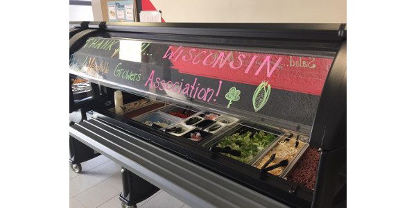 More than 400 students are getting a great taste of healthy vegetables, including potatoes, at Lincoln Middle School in La Crosse, after the Wisconsin Potato and Vegetable Growers Association (WPVGA) provided them with a potato-friendly salad bar! (Wisconsin Potato & Vegetable Growers Association via Facebook)