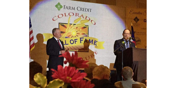 Marc Arnusch was the awarded the Rising Star in Colorado Agriculture on February 22. (Colorado Farm Bureau)