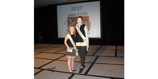Alison Faber of Ohio and Sarah Thelen of Minnesota. (Courtesy of American Sheep Industry Association)