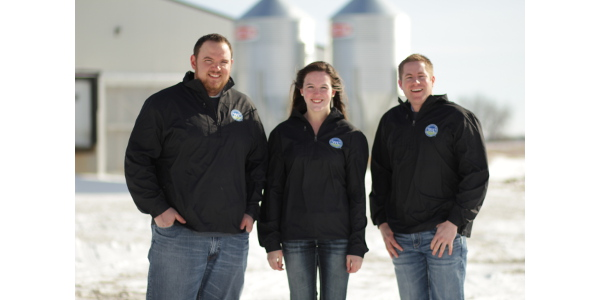 The National Pork Board announced today that Kyle Coble from Minnesota, Logan Thornton from Idaho and Madison Schafer from Minnesota have been named the inaugural Pig Farmers of Tomorrow. (Courtesy of The National Pork Board)