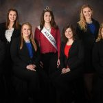From left: Kelly Wilfert, Abrielle Backhaus, Jenna Crayton, 69th Alice in Dairyland Ann O'Leary, Kaitlyn Riley, Alexis Dunnum, and Crystal Siemers-Peterman. (Courtesy of Wisconsin Department of Agriculture)
