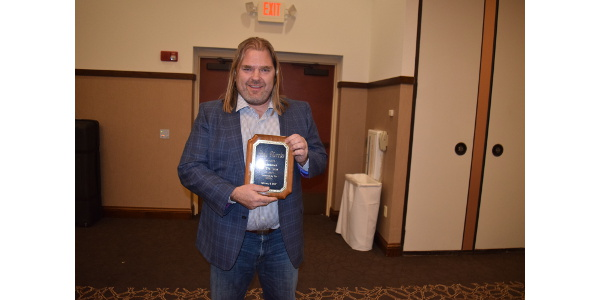 Andy Diercks of Coloma Farms, Coloma, was named the WPVGA Volunteer of the Year. (Courtesy of WPVGA)
