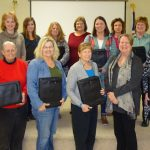 Front (left to right): Jamie Myers, Farm Credit, Ellen Christner, Donna Von Bokel, Karen Cherry, Pam Schallhorn, University of Illinois Extension, Kimberly May. Back: Tina Zimmerman, Jennifer Franklin, Amy Hernandez, Carol Rovey, Megan Curtin, Vicki Zook, Nina Branum. (Courtesy of University of Illinois Extension)