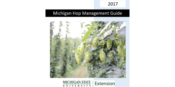 "In an effort to assist hop growers in making pesticide and nutrient management decisions, an updated reference titled ""Michigan Hop Management Guide, 2017"" has been created and is available at the Michigan State University Extension Hops Pest Management page."