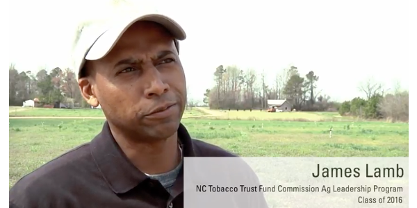 Lamb said the North Carolina Tobacco Trust Fund Commission Agricultural Leadership Development Program turned out to be one of the most meaningful experiences of his life. (Screen Shot)