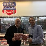 Daryl Strohbehn and Dave Rueber, Iowa beef producers, visit Costco in South Korea as Costco transitions to 100% U.S. beef in stores. (Courtesy of Iowa Beef Industry Council)
