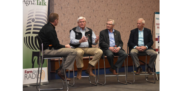 For the second straight year, Kentucky Farm Bureau used the National Farm Machinery Show as a backdrop for its Farm Bureau Presidents Panel discussion, moderated this year by AgriTalk radio's Mike Adams. (Courtesy of Farmstead Media)