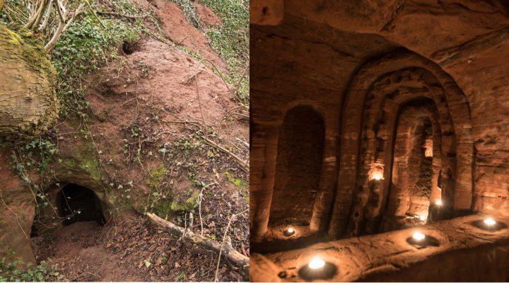 Hole in farm field leads to secret hideout