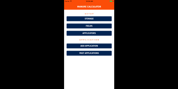 Manure rate calculator mobile app