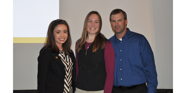 Jaclynn Knutson, Krista Fuoss and SDPPC President Ryan Storm. (Courtesy of SDPPC)