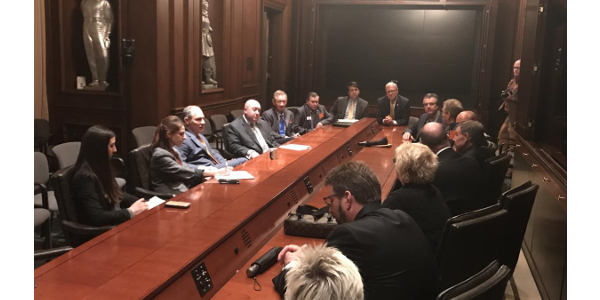 Congressman Kevin Cramer organized a meeting bringing together Environmental Protection Agency (EPA) Administrator Scott Pruitt, NDFB and North Dakota Association of Rural Electric Cooperatives in Washington Tuesday to discuss energy regulations and power generation concerns. (Courtesy of NDFB)