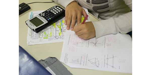 A student working on a math assignment. (US Department of Education via Flickr)