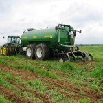 Illinois livestock farmers celebrated Earth Day by recycling nutrients in manure as fertilizer for their crops. (Courtesy of Illinois Agricultural Coalition)