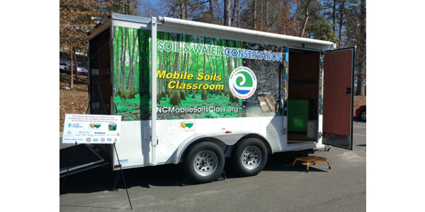 The North Carolina Conservation Partners announce the Mobile Soils Classroom is ready to come to a school or public event near you! (Courtesy of NC Foundation for Soil & Water Conservation)