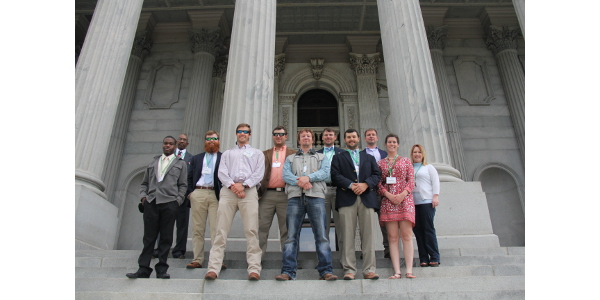 Members of the South Carolina Farm Bureau Federation Young Farmers & Ranchers Program met at the statehouse Wednesday 'agvocate' for agriculture and thank the SC General Assembly for their support of South Carolina agriculture throughout the year. (Courtesy of South Carolina Farm Bureau)