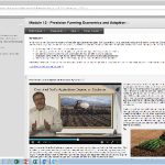 The above screenshot shows the layout from one lesson in precision agriculture. (Courtesy of Purdue's Agronomy e-Learning Academy)