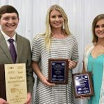 The team won several categories, including market animal, breeding, swine and communications. Chase Gleason (Uniontown, Kan.) won the overall individual title, while Shelby Teague (Fort Morgan, Colo.) placed third and Brooke Jensen (Courtland, Kan.) was fourth. (Courtesy of K-State Research and Extension)