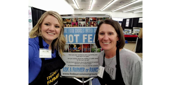 The other CommonGround volunteers in attendance were Jan Kochis, Colleen Peppler, Sondra Pierce, Kelsey Pope (pictured above, on the left) and Kristen Schneider (pictured above, on the right). (Courtesy of Colorado Corn)