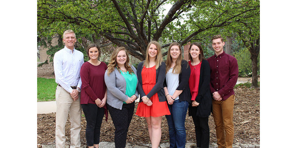 2017-2018 Nebraska Corn Interns: David Schuler, Brooke Tempel, Michaela Clowser, Ranae Sieck, Catherine Jones, Jacy Spencer and Stephen Enke. (Courtesy of Nebraska Corn)