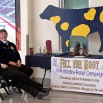 "Members of Lewiston and Burwell FFA Chapter at the ""fill the Boot"" Booth During the Nebraska State FFA State Convention. (Courtesy of Nebraska FFA)"