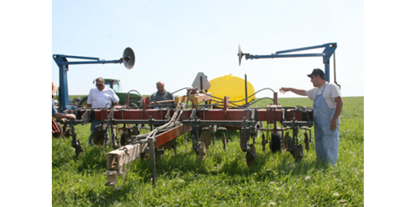 Fred Abels' strip-till rig. (Courtesy of Practical Farmers of Iowa)