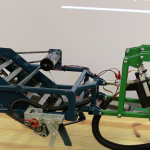 This model of an automated variable-depth two-row peanut digger-inverter was made by Clemson seniors to help educate South Carolina growers about technology to help increase yields. Image Credit: Denise Attaway / Clemson University