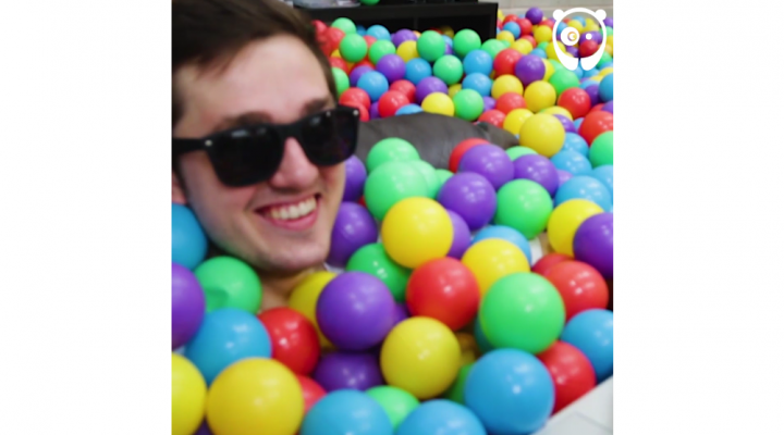 Boss surprises employees with ballpit