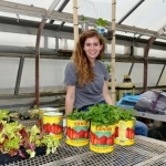 Anna Townsend's research sought to identify the most economical and feasible indoor garden for the student organization. (PHOTO: Katie Pratt, UK Agricultural Communications)